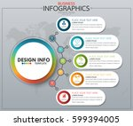 infographic business horizontal ... | Shutterstock .eps vector #599394005