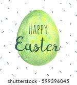 watercolor easter card.... | Shutterstock . vector #599396045