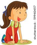 illustration of a girl on a... | Shutterstock .eps vector #59940457