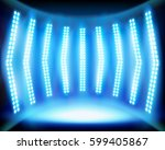 empty stage with lighting.... | Shutterstock .eps vector #599405867