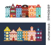 vector illustration with... | Shutterstock .eps vector #599408489