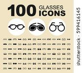 simple set of glasses related... | Shutterstock .eps vector #599416145