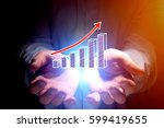 concept view of business graph... | Shutterstock . vector #599419655