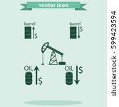 set of barrel oil icon. | Shutterstock .eps vector #599423594