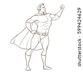 superhero concept  father   for ... | Shutterstock .eps vector #599424629