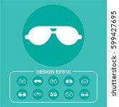 ocular pictograph | Shutterstock .eps vector #599427695