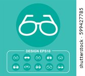 ocular pictograph | Shutterstock .eps vector #599427785