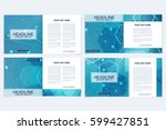 templates for square brochure.... | Shutterstock .eps vector #599427851