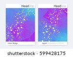 scientific brochure design... | Shutterstock .eps vector #599428175