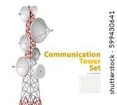 vector satellite tower in... | Shutterstock .eps vector #599430641