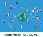 global logistics and...   Shutterstock .eps vector #599432507