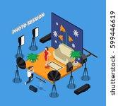 photo session isometric design... | Shutterstock .eps vector #599446619