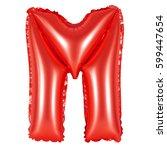 letter m from english alphabet... | Shutterstock . vector #599447654
