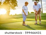 active senior lifestyle ... | Shutterstock . vector #599466431