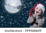 christmas. | Shutterstock . vector #599468609