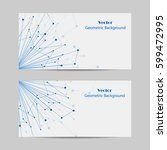 set of horizontal banners.... | Shutterstock .eps vector #599472995