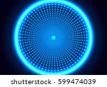 abstract futuristic background... | Shutterstock .eps vector #599474039