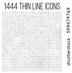 exclusive 1444 thin line icons... | Shutterstock .eps vector #599479769
