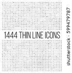 exclusive 1444 thin line icons... | Shutterstock .eps vector #599479787