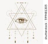 vector third eye sign | Shutterstock .eps vector #599481305
