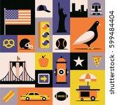 new york city  vector flat...   Shutterstock .eps vector #599484404