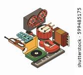 music  vector illustration ...   Shutterstock .eps vector #599485175