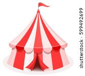 colorful cartoon circus tent... | Shutterstock .eps vector #599492699
