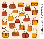 set of bags | Shutterstock .eps vector #599494979