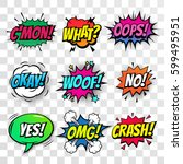 comic text speech bubbles... | Shutterstock .eps vector #599495951
