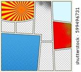 comics book background in... | Shutterstock .eps vector #599496731