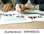 business colleagues working... | Shutterstock . vector #599498531