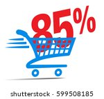 check out cart sale icon symbol ... | Shutterstock .eps vector #599508185