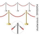 rope barrier. seamless vector.   Shutterstock .eps vector #59950954