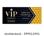 vip party premium invitation... | Shutterstock .eps vector #599511941