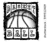 vector illustration basketball... | Shutterstock .eps vector #599512409