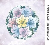 floral highly detailed hand... | Shutterstock .eps vector #599518379