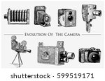 evolution of the photo  video ... | Shutterstock .eps vector #599519171