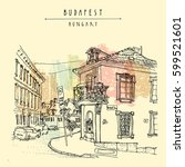 budapest  hungary  europe.... | Shutterstock .eps vector #599521601