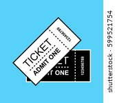 set of ticket icon isolated.... | Shutterstock .eps vector #599521754