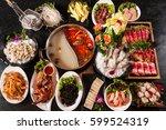 thai hot pot | Shutterstock . vector #599524319