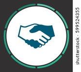 handshake icon vector. flat... | Shutterstock .eps vector #599524355