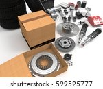 car parts on background. car... | Shutterstock . vector #599525777