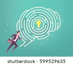business concept of searching... | Shutterstock .eps vector #599529635