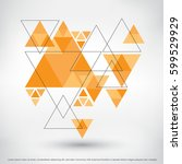 modern geometric background... | Shutterstock .eps vector #599529929