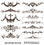 art deco design elements of... | Shutterstock .eps vector #599530661