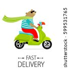 "poster ""fast delivery"". bear on ... 