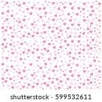 heart vector background....   Shutterstock .eps vector #599532611