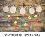 Easter Paper Tag Shape Of An...
