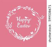 a vector illustration  a happy... | Shutterstock .eps vector #599538671