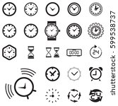 clock icon isolated. time logo  ...   Shutterstock .eps vector #599538737